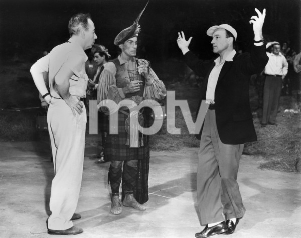 "Vincente Minnelli, Hugh Laing and Gene Kelly on the set of ""Brigadoon""1954 MGM** I.V. - Image 8705_0011"