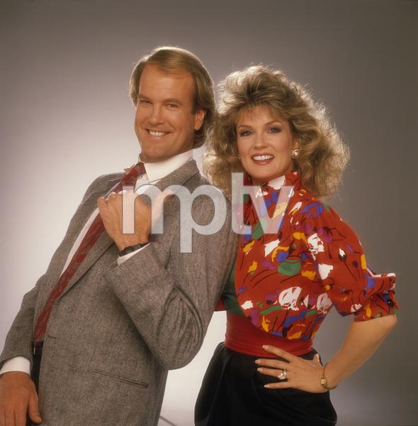 """Entertainment Tonight""Mary Hart, John Teshcirca 1989© 1989 Mario Casilli - Image 8731_0038"