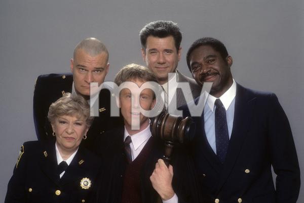 """Night Court""Selma Diamond, Richard Moll, Harry Anderson, John Larroquette, Charles Robinson1984 © 1984 Mario Casilli - Image 8734_0011"