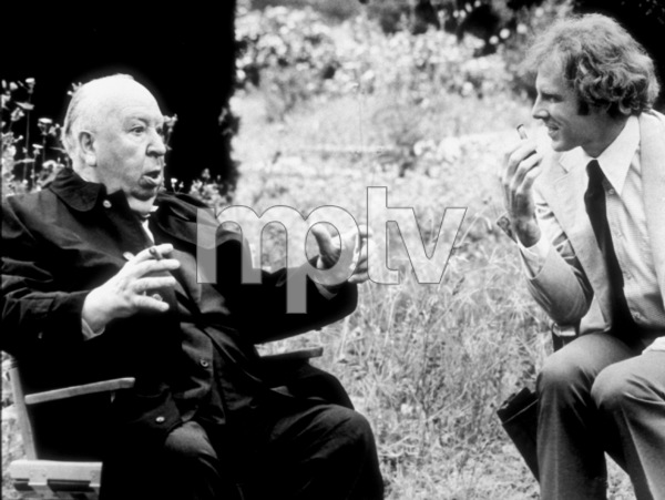 """Family Plot,""Director Alfred Hitchcock andBruce Dern on location.1976 Universal - Image 8897_0008"
