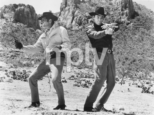 """Five Card Stud,""Dean Martin and Robert Mitchum.1968 Paramount - Image 8905_0010"