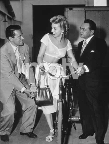"""Glass Web, The""John Forsythe, Edward G. Robinson,and Kathleen Hughes.1953 Universal - Image 8938_0002"
