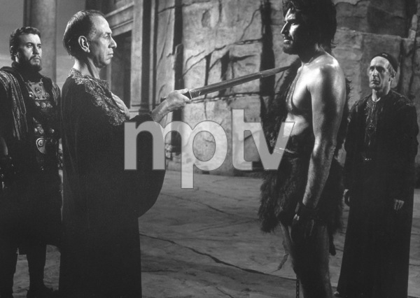 """Greatest Story Ever Told"" Michael Ansara, Jose Ferrer, Charlton Heston1965  UA Photo by Floyd McCarty - Image 8951_0005"
