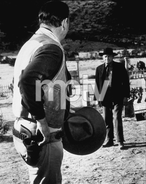 """The Sons of Katie Elder,"" Paramount 1965.John Wayne and Paul Fix. - Image 9030_0001"