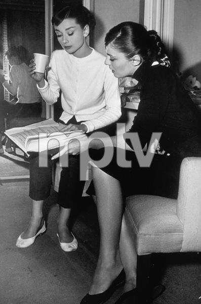 """""""Funny Face"""" Audrey Hepburn and Madeline HubbardParamount / 1956 - Image 9111_0079"""