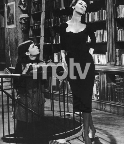 """""""Funny Face"""" Audrey Hepburn and Dovima1956 Paramount **I.V. - Image 9111_0369"""