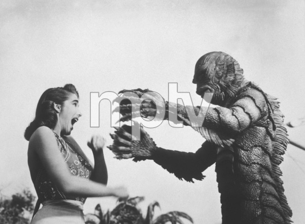 """""""Creature From the Black Lagoon""""Julie Adams, Ricou Browning 1954 United International - Image 9132_4"""