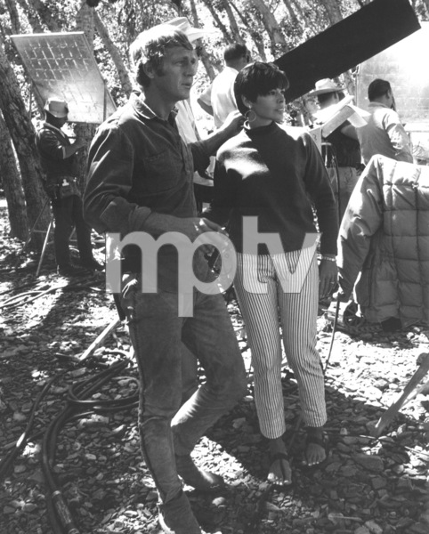 """""""Nevada Smith"""" Steve McQueen behind the scenes with wife Neile, 1965 © 1978 Chester Maydole - Image 9149_0007"""