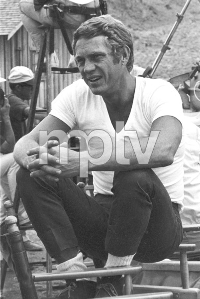 """""""Nevada Smith""""Steve McQueen on the set, 1965 © 1978 Chester Maydole - Image 9149_0009"""