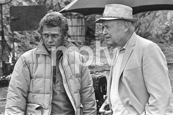 """""""Nevada Smith""""Steve McQueen behind the scenes with DirectorHenry Hathaway, 1965 © 1978 Chester Maydole - Image 9149_0012"""