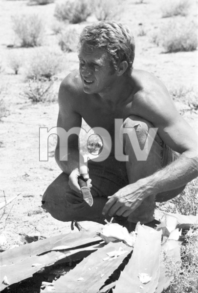 """""""Nevada Smith""""Steve McQueen on the set, 1965 © 1978 Chester Maydole - Image 9149_0013"""