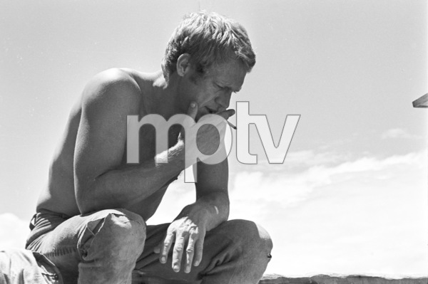 """""""Nevada Smith""""Steve McQueen behind the senes, 1965 © 1978 Chester Maydole - Image 9149_0014"""