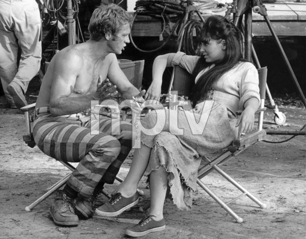 """Nevada Smith""Steve McQueen and Suzanne Pleshetteon the set, 1965 © 1978 Chester Maydole - Image 9149_0017"