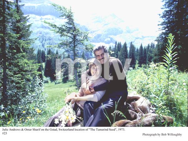 """Tamarind Seed, The""Julie Andrews & Omar Sharifon the Gstad, Switzerland location, 1973. © 1978 Bob Willoughby - Image 9174_0016"
