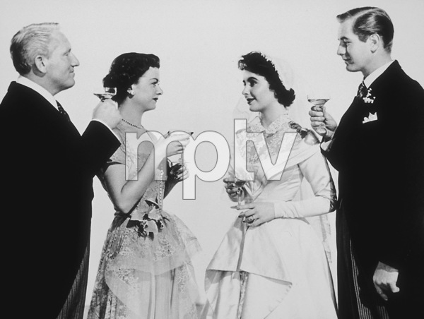 """""""Father of the Bride""""Spencer Tracy, Joan Bennett, Elizabeth Taylor, Don Taylor1950 MGM**R.C.MPTV - Image 9235_0002"""