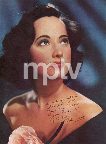 Merle Oberon posing for a Maybelline advertisementcirca 1940s© 1978 Paul Hesse - Image 9277_0182