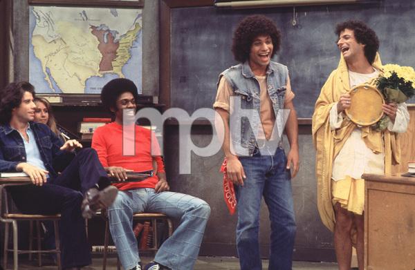 """Welcome Back Kotter""John Travolta, Lawrence Hilton-Jacobs, Robert Hegyes, Ron Palillo1976 ABC**H.L. - Image 9291_0047"