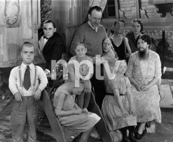 """""""Freaks""""Director Tod Browning (center) with cast1932 MGM** I.V. - Image 9432_0012"""