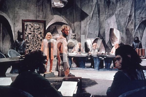 """Planet Of The Apes""Maurice Evans, Charlton Heston © 1968 20th Century Fox - Image 9436_0002"