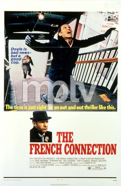 """""""The French Connection"""" (poster)1971 20th Century Fox** I.V. - Image 9440_0009"""