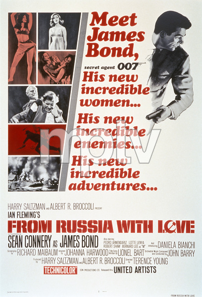 """""""From Russia with Love"""" (Poster)1963 United Artists** I.V. - Image 9451_0018"""