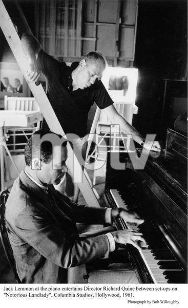 """Notorious Landlad.""Jack Lemmon with Director Richard Quine1962 Columbia © 1978 Bob Willoughby - Image 9459_0003"