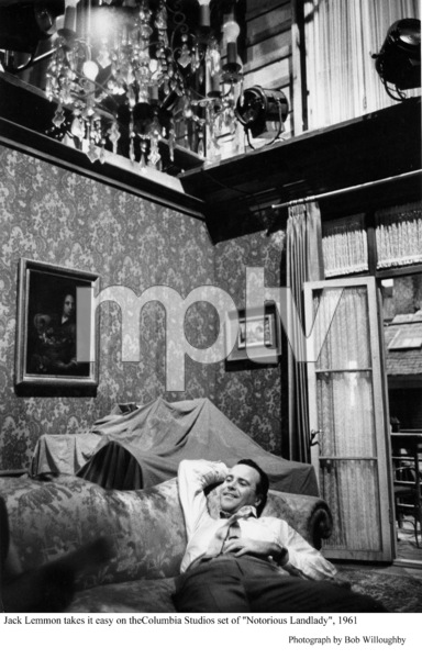 """""""Notorious Landlady""""Jack Lemmon takes it easy behind the scenes.1962 Columbia © 1978 Bob Willoughby - Image 9459_0036"""