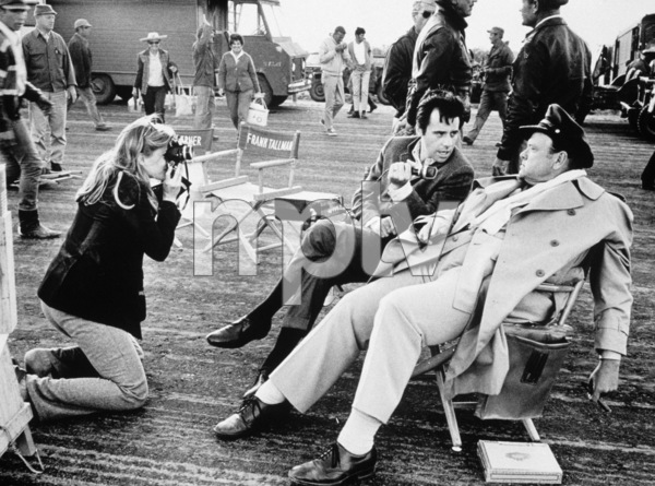 """Catch 22"" Candice Bergen, Peter Bogdanovich and Orson Welles in Guaymas, Mexico 1969 © 1978 Bob Willoughby - Image 9488_0024"