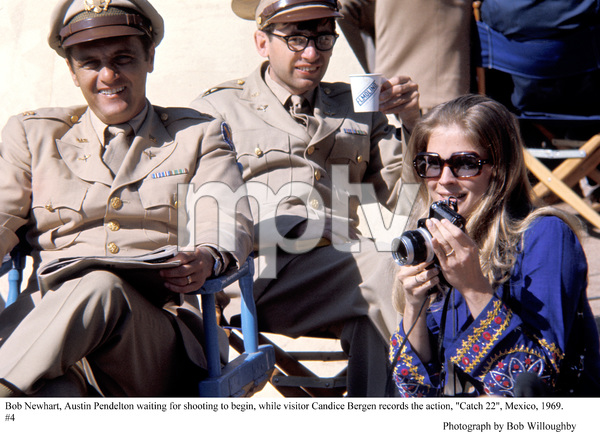 """Catch 22""Bob Newhart, Austin Pendelton, Candice Bergen  in Mexico, 1969 © 1978 Bob Willoughby - Image 9488_0031"