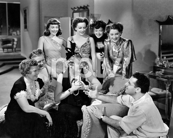 Norma Shearer, Joan Fontaine, Rosalind Russell, Paulette Goddard, Mary Boland,  George Cukor,  THE WOMEN, M-G-M, 1939, I.V. - Image 9583_0042