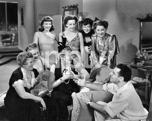 Norma Shearer, Joan Fontaine, Rosalind Russell, Paulette Goddard, Mary Boland,  George Cukor,  THE WOMEN, M-G-M, 1939, I.V. - Image 9583_0043