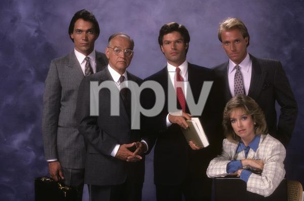 """L.A. Law""Jimmy Smits, Richard Dysart, Harry Hamlin, Corbin Bernsen, Jill Eikenberry1986© 1986 Mario Casilli - Image 9674_0104"
