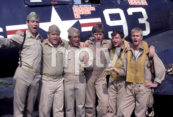 """Baa Baa Black Sheep""John Larroquette, Dirk Blocker, Robert Conrad, Robert Ginty, James Whitmore Jr., W.K. Stratton1976** H.L. - Image 9751_0015"