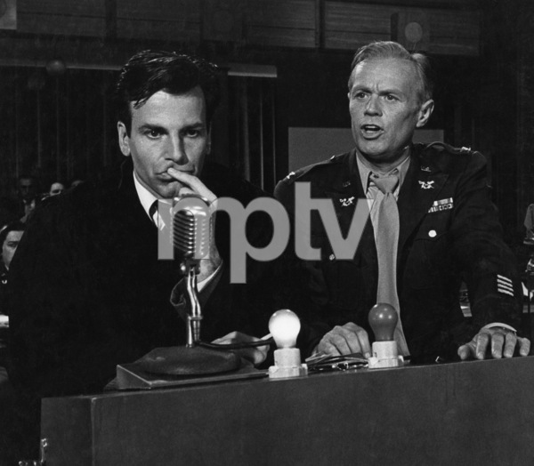 """Judgment at Nuremberg""Maximilian Schell, Richard Widmark1961 UAPhoto by Al St. Hilaire - Image 9892_0001"