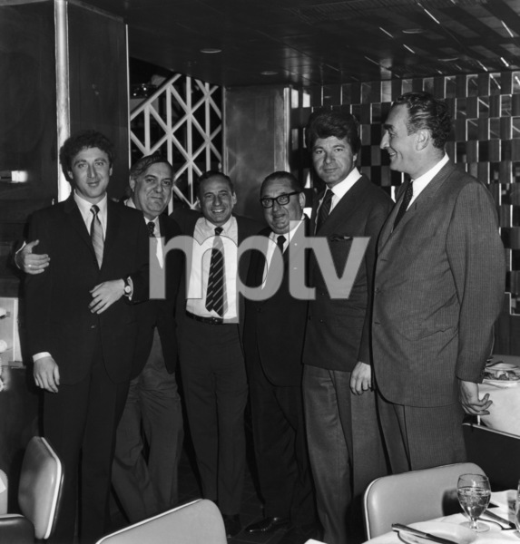 """The Producers""Gene Wilder, Zero Mostel, director Mel Brooks, executive producer Joseph E. Levine, Dick Shawn1968 MGM ** I.V. - Image 9899_0023"