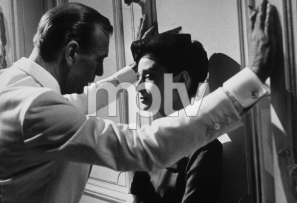 """""""Love In The Afternoon""""Gary Cooper and Audrey Hepburn1957 AA Productions / MPTV © 1978 Al St. Hilaire - Image 9902_0013"""