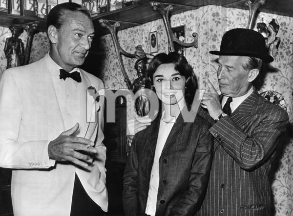 """Love in the Afternoon""Gary Cooper, Audrey Hepburn, Maurice Chevalier1957** I.V. - Image 9902_0033"