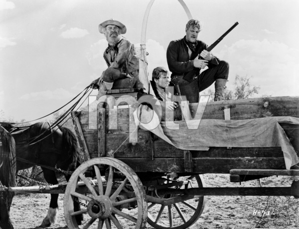 """Hondo""Frank McGrath, Tom Irish, Leo Gordon1953© 1978 Bud Fraker - Image 9960_0034"