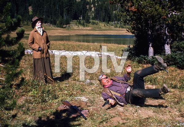 """Rooster Cogburn,"" Universal 1974.Katharine Hepburn and John Wayne. © 1978 David Sutton - Image 9967_0056"